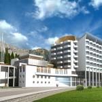 Реконструкция и расширение пансионата «Полет» в г.Алушта, АР Крым. Строительство 13-этажного спального корпуса с подземным паркингом на 365 мест.